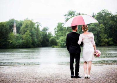 Hochzeitsfotos in Stuttgart Shooting bei Regen draussen