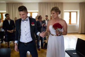 standesamtliche Hochzeit Ankunft